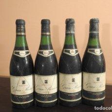 Coleccionismo de vinos y licores: 4 BOTELLAS DE VINO RIOJA BERBERANA RESERVA 1952. Lote 181591681