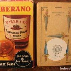 Coleccionismo de vinos y licores: ANTIGUA BARAJA DE CARTAS NAIPES SOBERANO, GONZALEZ BYASS. SIN ESTRENAR. Lote 181853218