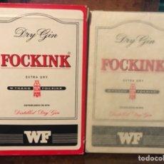 Coleccionismo de vinos y licores: ANTIGUA BARAJA DE CARTAS NAIPES DRY GIN FOCKINK SIN ESTRENAR. Lote 181855840
