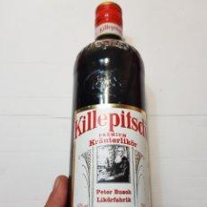 Coleccionismo de vinos y licores: BOTELLA ANTIGUA HIERBAS LLENA SIN ABRIR KILLESPITSCH ESCASA. Lote 181856056