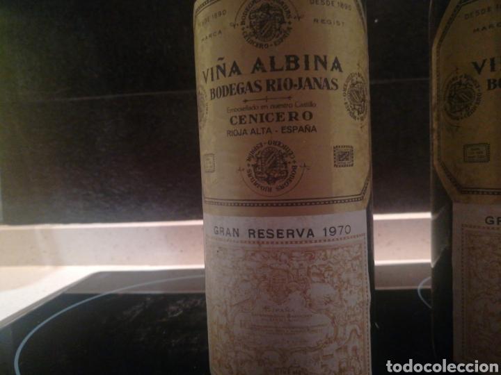 Coleccionismo de vinos y licores: VIÑA ALBINA 1970 3 botellas - Foto 2 - 182037052