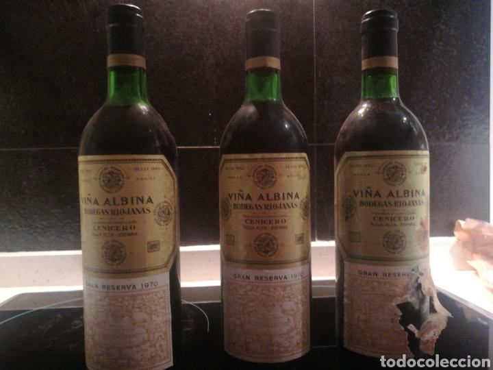 VIÑA ALBINA 1970 3 BOTELLAS (Coleccionismo - Botellas y Bebidas - Vinos, Licores y Aguardientes)