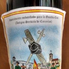 Coleccionismo de vinos y licores: ESPECIALMENTE EMBOTELLADO PARA LA GUARDIA CIVIL. Lote 182478337