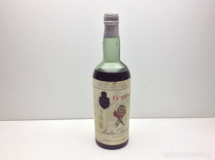 BOTELLA DE BRANDY FUNDADOR DOBLE ETIQUETA PRECINTO 80 CTS (Coleccionismo - Botellas y Bebidas - Vinos, Licores y Aguardientes)