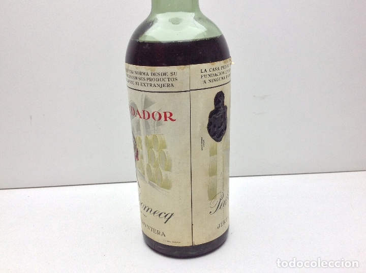 Coleccionismo de vinos y licores: BOTELLA DE BRANDY FUNDADOR DOBLE ETIQUETA PRECINTO 80 CTS - Foto 3 - 43405275