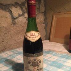 Coleccionismo de vinos y licores: ANTIGUA BOTELLA DE VINO TINTO MARCA GRAN CORONAS TORRES RESERVA AÑO 1975. Lote 183022667