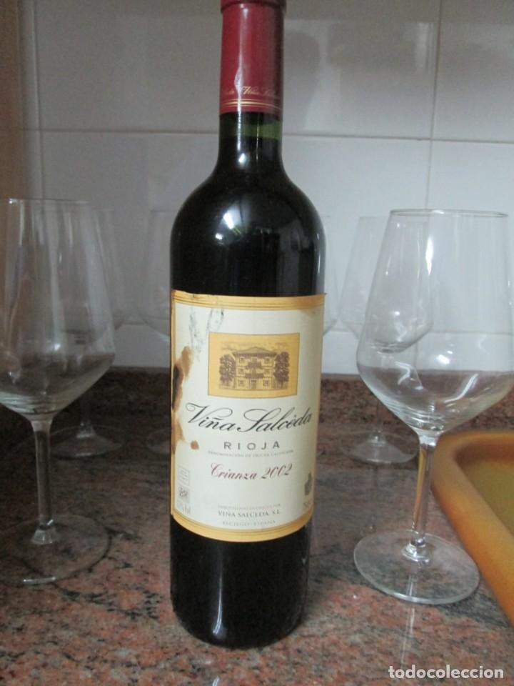 ANTIGUA BOTELLA VINO VIÑA SALCEDA RIOJA CRIANZA 2002 (Coleccionismo - Botellas y Bebidas - Vinos, Licores y Aguardientes)
