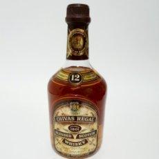 Coleccionismo de vinos y licores: EHISKY CHIVAS REGAL 12 AÑOS 75CL ANTIGUA BOTELLA. Lote 184594775