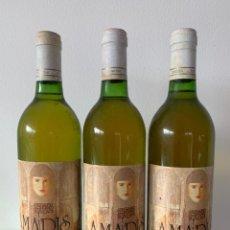 Coleccionismo de vinos y licores: 3 BOTELLAS VINO AMADIS BLANCO RIOJA 1991. Lote 184856881