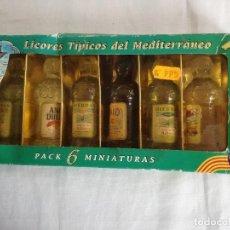 Coleccionismo de vinos y licores: LICORES TIPICOS DEL MEDITERRANEO. Lote 185676397