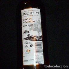 Coleccionismo de vinos y licores: LICOR DE ALGARROBA EXQUISITE 50ML. IBIZA. Lote 186017508