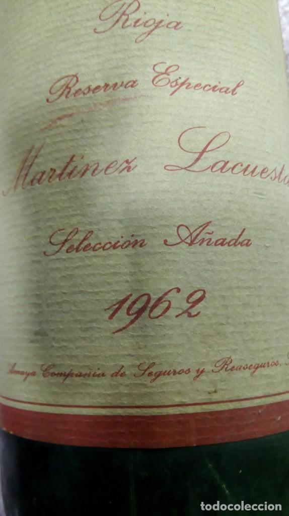 Coleccionismo de vinos y licores: Botella vino tinto Rioja reserva añada 1962 - Foto 5 - 186171032