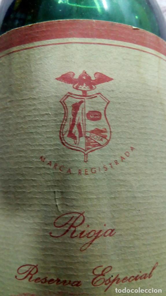 Coleccionismo de vinos y licores: Botella vino tinto Rioja reserva añada 1962 - Foto 6 - 186171032