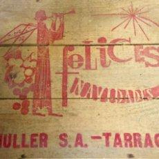 Coleccionismo de vinos y licores: MULLER TARRAGONA, CAJA NAVIDEÑA DE MADERA SIN ABRIR, CON 6 BOTELLAS DE COLECCIÓN, DE PRESTIGIO.. Lote 186337352