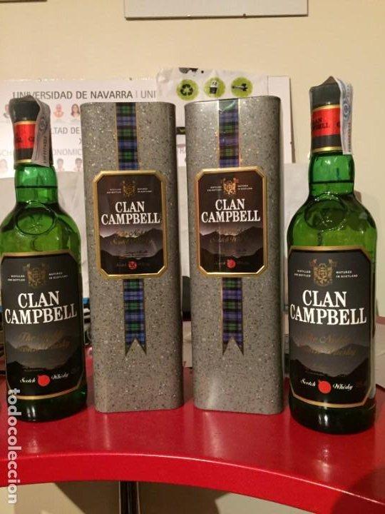 WHISKY CLAN CAMPBELL. LOTE DE 2 BOTELLAS (Coleccionismo - Botellas y Bebidas - Vinos, Licores y Aguardientes)