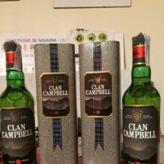 Coleccionismo de vinos y licores: WHISKY CLAN CAMPBELL. LOTE DE 2 BOTELLAS. Lote 186432167