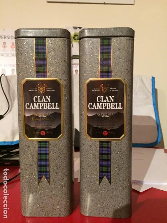 Coleccionismo de vinos y licores: WHISKY CLAN CAMPBELL. LOTE DE 2 BOTELLAS - Foto 2 - 186432167