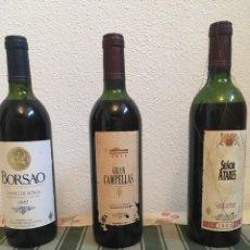 Coleccionismo de vinos y licores: BAÚL DE MADERA VINO TINTO 3 BOTELLAS BODEGAS BORSAO. Lote 187163355