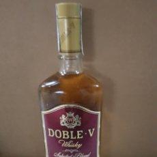 Coleccionismo de vinos y licores: BOTELLA WHISKY DOBLE V ANTIGUA. Lote 187390778