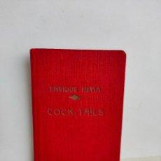 Coleccionismo de vinos y licores: FORMULARIO DE COCKTELERÍA ENRIQUE HEVIA. VAN DEN BERGH, LA CAMPANA, FREIXENET. AÑOS 20. Lote 187484933