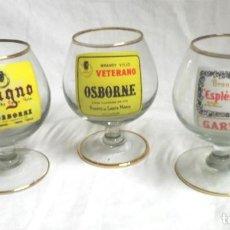 Coleccionismo de vinos y licores: COPAS MAGNO VETERANO OSBORNE Y ESPLENDIDO GARVEY. MED. 10 CM. Lote 189192196