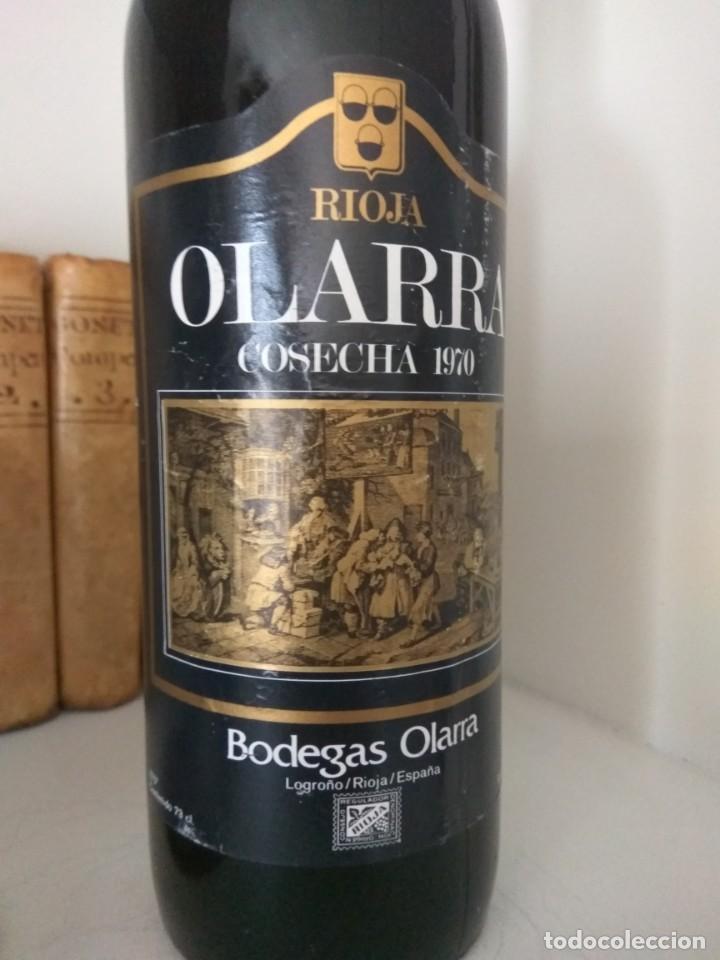 BOTELLA DE VINO OLARRA COSECHA 1970 LOGROÑO-RIOJA (Coleccionismo - Botellas y Bebidas - Vinos, Licores y Aguardientes)