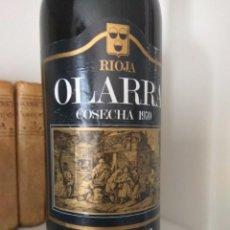 Coleccionismo de vinos y licores: BOTELLA DE VINO OLARRA COSECHA 1970 LOGROÑO-RIOJA. Lote 189339287