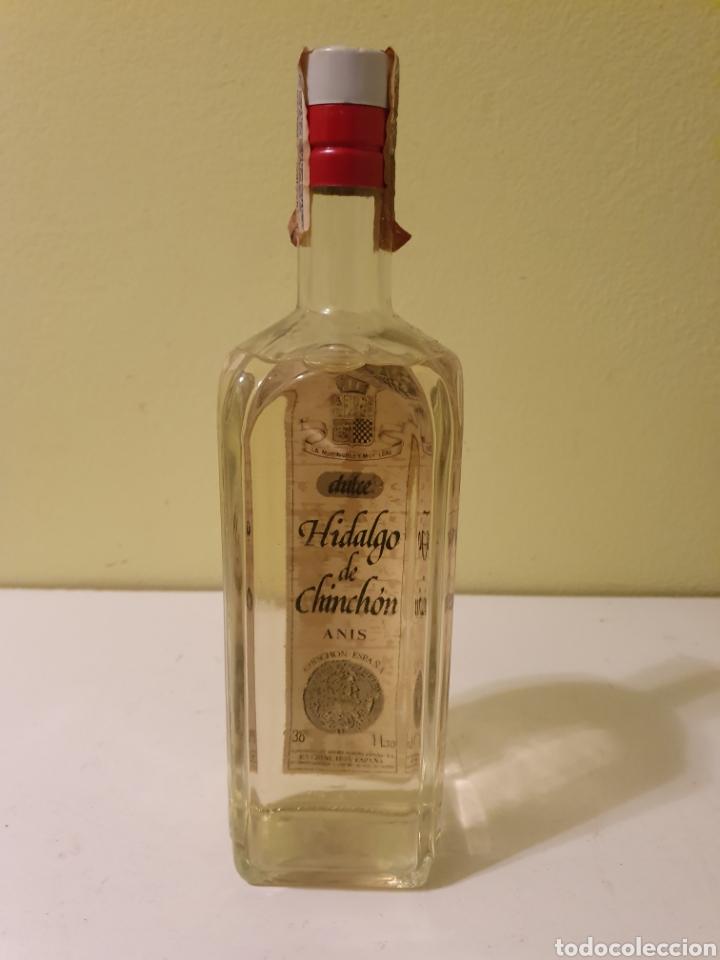 Coleccionismo de vinos y licores: BOTELLA ANIS DULCE DE UN LITRO HIDALGO DE CHINCHÓN MARIE BRIZARD - Foto 4 - 189636113