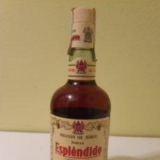 Coleccionismo de vinos y licores: BOTELLA DE BRANDY DE JEREZ SOLERA ESPLÉNDIDO GARVEY. Lote 189638403