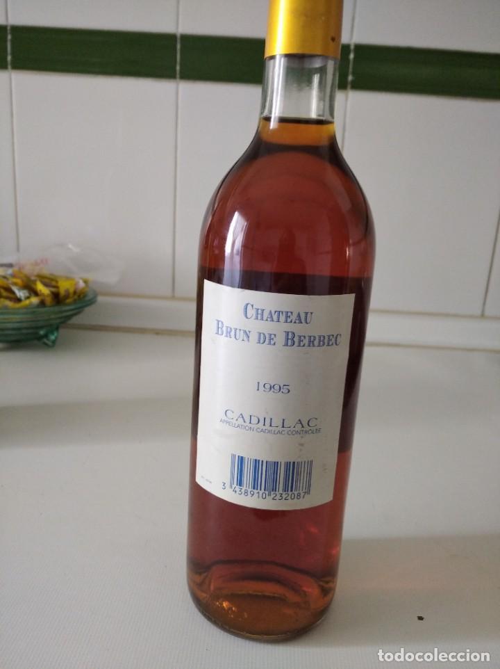 Coleccionismo de vinos y licores: Botella de vino Rose francés Chateau Brun de Berbec 1995 - Foto 2 - 190170731