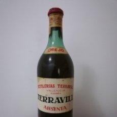 Coleccionismo de vinos y licores: ABSENTA TERRAVILL. Lote 190474341