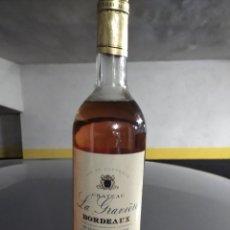 Coleccionismo de vinos y licores: BOTELLA DE VINO DE BORDEAUX ROSE CHATEAU LE GRAVIER 2001. Lote 190770808