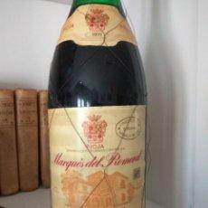 Collezionismo di vini e liquori: BOTELLA DE VINO RIOJA MARQUÉS DEL ROMERAL, GRAN RESERVA 1971. Lote 190925686