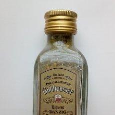 Coleccionismo de vinos y licores: BOTELLITA GOLDWASSER DANZIG LAMINAS ORO. Lote 191226790