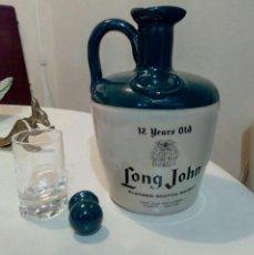 Coleccionismo de vinos y licores: BOTELLA/ DECANTER LONG JOHN 12 YEARS OLD. Lote 191597977