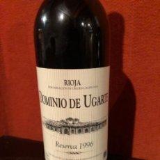 Coleccionismo de vinos y licores: BOTELLA DOMINIO DE UGARTE RESERVA 1996. Lote 192354907