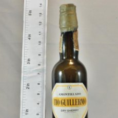 Coleccionismo de vinos y licores: BOTELLITA BOTELLIN AMONTILLADO TIO GUILLERMO BODEGAS SAN PATRICIO GARVEY JEREZ. Lote 192358730