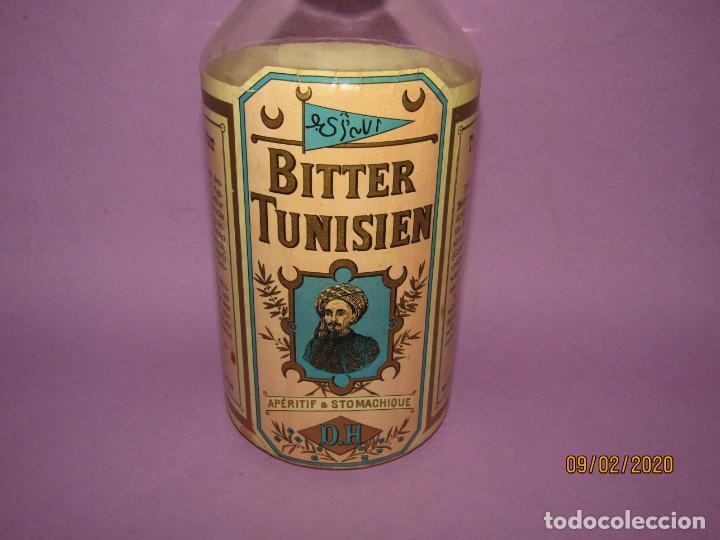 Coleccionismo de vinos y licores: Muy Antigua Botella Vacía de BITTER TUNISIEN Aperitivo Estomacal - Año 1880s. - Foto 3 - 193728168