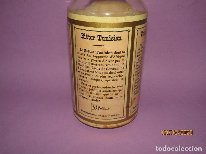 Coleccionismo de vinos y licores: Muy Antigua Botella Vacía de BITTER TUNISIEN Aperitivo Estomacal - Año 1880s. - Foto 5 - 193728168