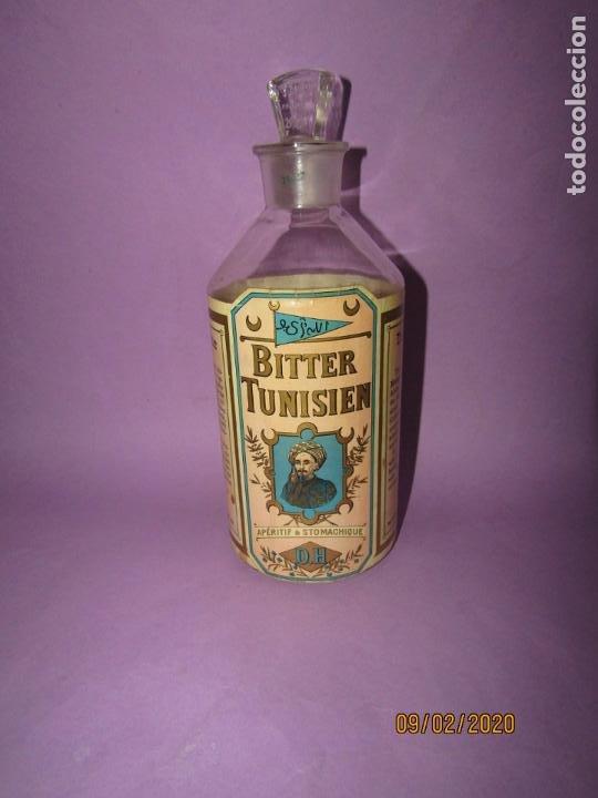 Coleccionismo de vinos y licores: Muy Antigua Botella Vacía de BITTER TUNISIEN Aperitivo Estomacal - Año 1880s. - Foto 6 - 193728168