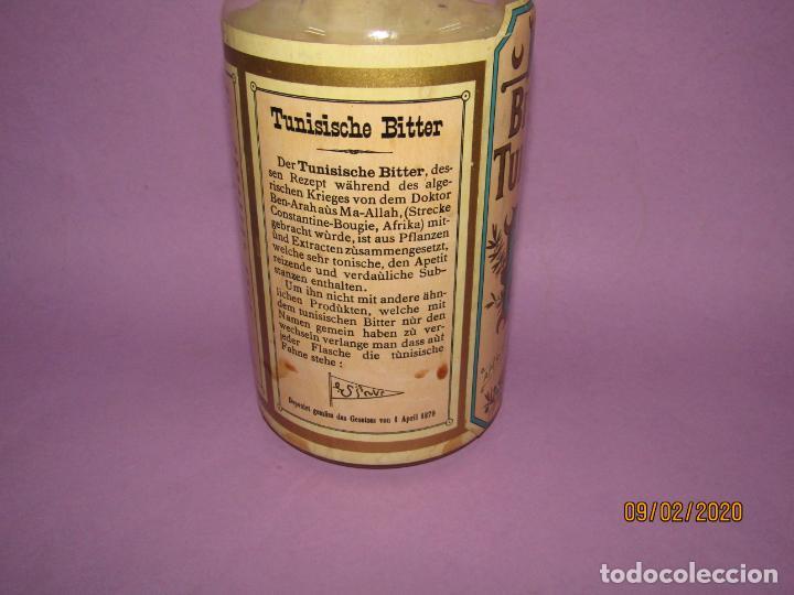 Coleccionismo de vinos y licores: Muy Antigua Botella Vacía de BITTER TUNISIEN Aperitivo Estomacal - Año 1880s. - Foto 8 - 193728168