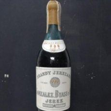 Coleccionismo de vinos y licores: BOTELLA BRANDY JEREZANO GONZÁLEZ BYASS PRECINTADA 80 CENTIMOS.. Lote 193994591