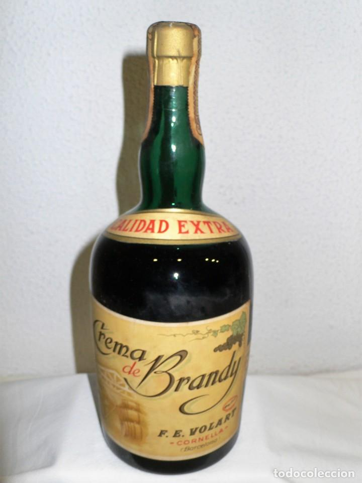 ANTIGUA BOTELLA CREMA DE BRANDY F.E. VOLART (Coleccionismo - Botellas y Bebidas - Vinos, Licores y Aguardientes)