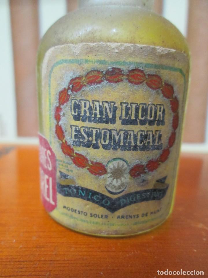 ANTIGUO BOTELLIN, LICOR ESTOMACAL MODESTO SOLER (Coleccionismo - Botellas y Bebidas - Vinos, Licores y Aguardientes)