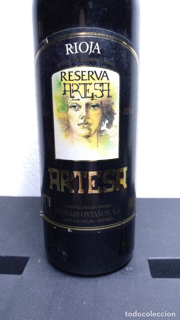 Coleccionismo de vinos y licores: Botella vino Artesa, Reserva 1987. - Foto 2 - 194232455