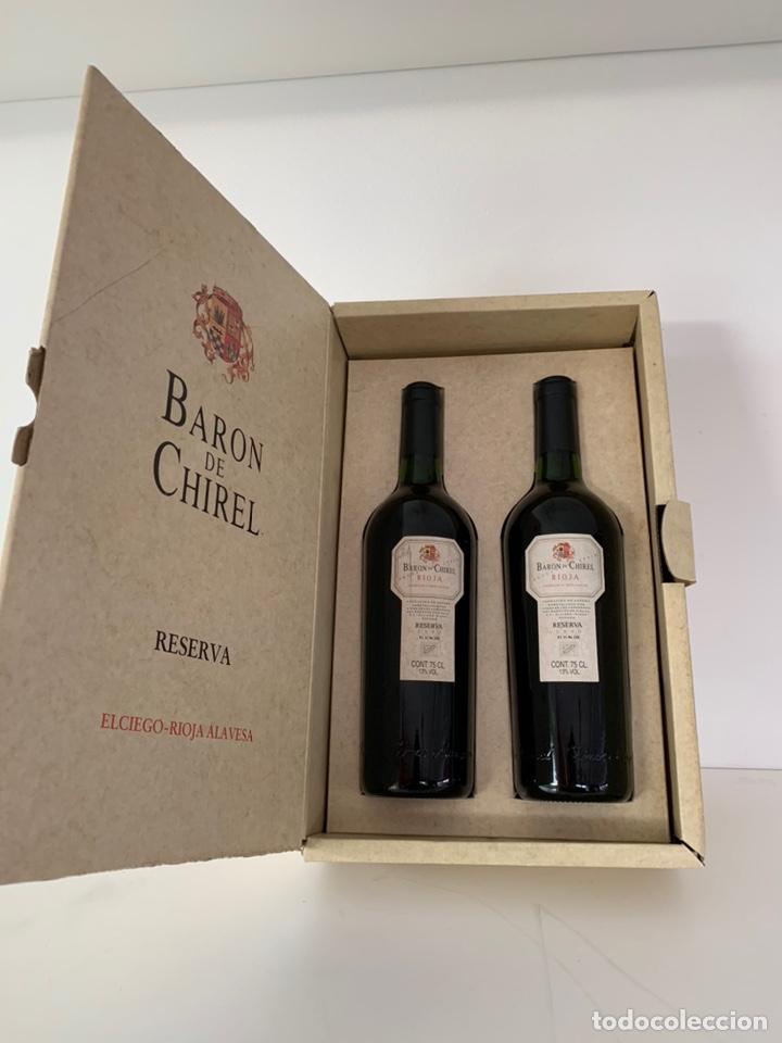 Coleccionismo de vinos y licores: Estuche 2 botellas Baron de Chirel 1995 - Foto 2 - 194240271