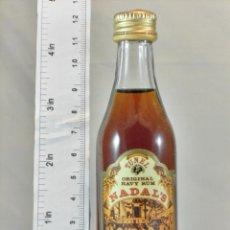 Coleccionismo de vinos y licores: BOTELLITA BOTELLIN TUNEL ORIGINAL NAVY RUM NADAL´S ANTONIO NADAL MALLORCA . Lote 194303782