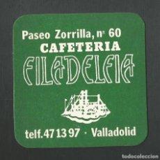 Coleccionismo de vinos y licores: POSAVASO CAFETERIA FILADELFIA VALLADOLID. Lote 194345380