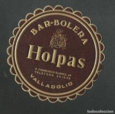 Coleccionismo de vinos y licores: POSAVASO BAR BOLERA HOLPAS VALLADOLID. Lote 194347728