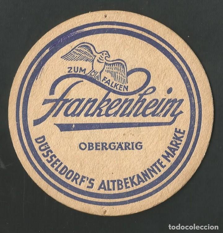 POSAVASO ZUM FALKEN FRNKENHEIM (Coleccionismo - Botellas y Bebidas - Vinos, Licores y Aguardientes)
